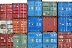 Shipping containers. Havre Stock Images