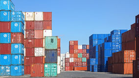 Shipping containers. Havre Stock Image