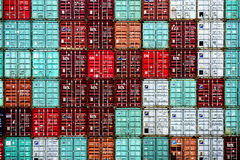 Shipping containers pattern Royalty Free Stock Photo