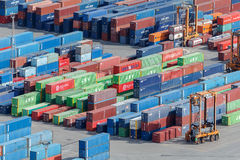 Shipping Containers Stock Photo