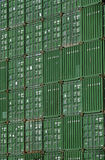 Shipping containers in storage yard Royalty Free Stock Photography
