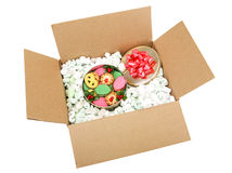 Shipping Cookies with Path Royalty Free Stock Photography