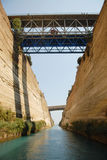 Shipping through Corinth Canal Stock Photography
