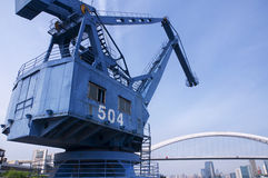 Shipping Crane in Shanghai Stock Images