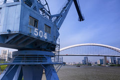 Shipping Crane in Shanghai Royalty Free Stock Photos