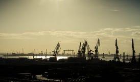 Shipping Cranes in Cadiz, Spain Stock Image