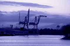 Shipping Cranes, Port of Stockton, California Stock Photos
