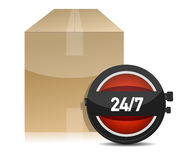 Shipping delivery concept illustration Royalty Free Stock Image