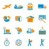Shipping Delivery Icons Set Royalty Free Stock Image