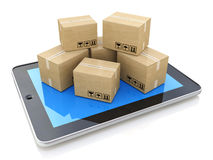 Shipping, delivery and logistics technology business industrial Royalty Free Stock Image