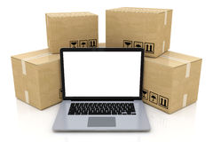 Shipping, delivery and logistics technology business industrial Royalty Free Stock Photos