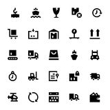 Shipping and Delivery Vector Icons 1 Royalty Free Stock Photo