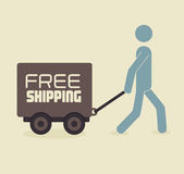 Shipping design Royalty Free Stock Photos