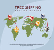Shipping design Royalty Free Stock Image