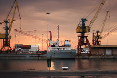 Shipping dock Stock Photography