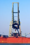 Shipping dock crane Royalty Free Stock Photography