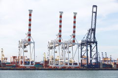 Shipping dock Stock Photo