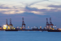 Shipping dock Royalty Free Stock Photography