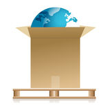 Shipping earth concept Stock Images