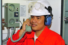 A shipping engineer stock image