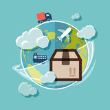 Shipping flat design Stock Images
