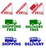 Shipping free, delivery free icons Stock Images