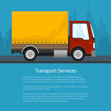 Shipping and Freight of Goods, Poster Design Stock Image