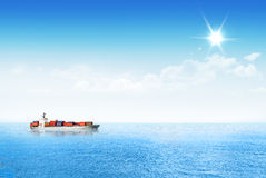 Shipping goods though the ocean. Royalty Free Stock Photos