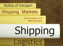 Logistics - Books Stock Photo