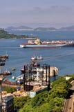Shipping of Hongkong city, 2016. Island and sea around Hongkong city, shown as people life and environement in Hongkong, and harbor or shipping industry Royalty Free Stock Image