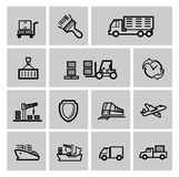 Shipping icon set Stock Image