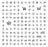 Shipping icon set Royalty Free Stock Images