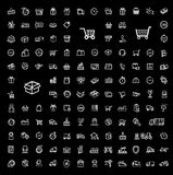 Shipping icon set Royalty Free Stock Photos
