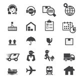 Shipping icon set Royalty Free Stock Photo