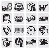 Shipping icons Stock Image