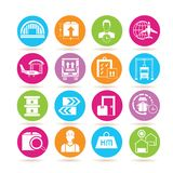 Shipping icons Stock Photography