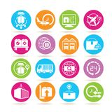 Shipping icons Royalty Free Stock Photo