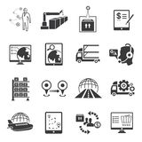 Shipping icons Royalty Free Stock Images