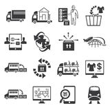 Shipping icons Royalty Free Stock Photography