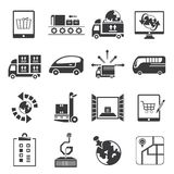 Shipping icons. Set of 16 shipping icons Royalty Free Stock Photo