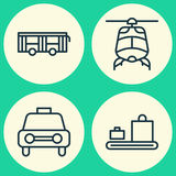Shipping Icons Set. Collection Of Taxi, Vehicle, Chopper And Other Elements. Also Includes Symbols Such As Transport Royalty Free Stock Photo