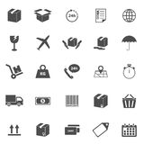 Shipping icons on white background Royalty Free Stock Photos