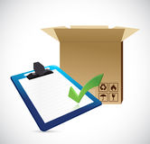 Shipping industry and clipboard. Royalty Free Stock Photo