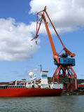 Shipping industry crane 03. Large industrial shipping crane at Gothenburg harbour Stock Image