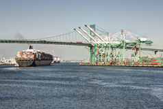 Shipping Industry Port of Los Angeles Stock Photo