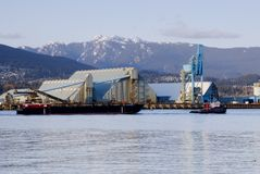Shipping and industry in Vancouver Royalty Free Stock Image