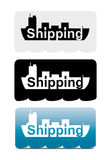 Shipping label Royalty Free Stock Photo