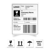 Shipping label template Stock Image
