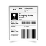Shipping label template. Shipping label sticker template vector vector illustration