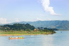 Shipping Lao boat on The Mae khong river Stock Images
